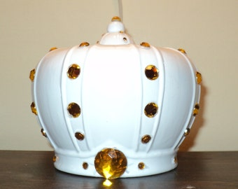 White Crown Bank with gold jewels