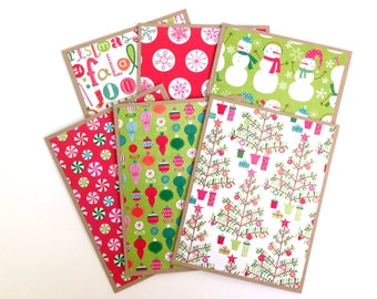 Christmas Stationary - Winter Note Card Set - Blank Christmas Card - Holiday Cards - Merry Christmas Card Set - Cute Colorful Christmas Card