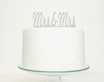 Mrs & Mrs Civil Partnership / Lesbian Wedding Cake Topper