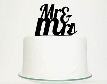 Wedding Cake Topper - 'Mr & Mrs'