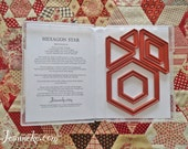 HEXAGON STAR Quilt Stamp set (only rubbers)