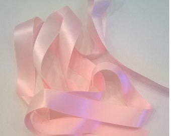 "18mm Light Pink 100% Silk Double-Faced Satin Ribbon - 18mm (.7"" - about 3/4"") - Ribbon - Sold by the Yard"