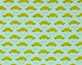 Aqua Tonal Turtle Parade from Michael Miller's Les Amis Collection by Patty Sloniger