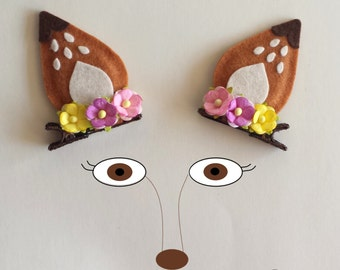 Fawn Deer Ears Hair Clips