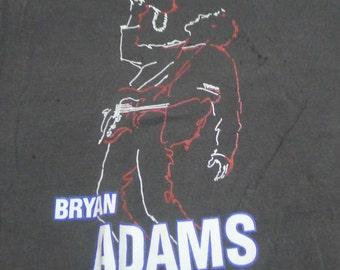 Vintage 90 1992 Bryan Adams Coming Home Tour Black T-Shirt