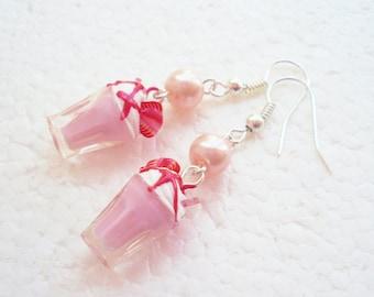 Strawberry Milkshake Earrings.