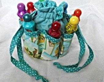 Florida Print Bingo Bag , Also Great for Craft & Make-up Organizer