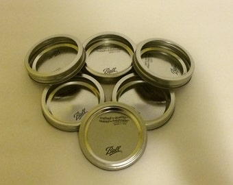 New Mason Jar Wide Mouth Lids & Rings, Mason Jar Wide Mouth tops, Mason Jar Wide Mouth Tops, Canning Supplies, Bulk Lids, Mason Jar Crafts