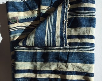 Striped Vintage Indigo throw