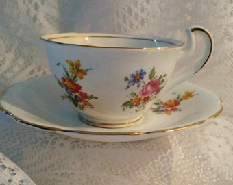 Vintage Vanderwood China Tea Cup and Saucer Set