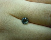Genuine Montana Sapphire Blue Yellow with a Little Green Round Brilliant .66 carat 5.2 mm Loose Gemstone for Engagement, Jewelry