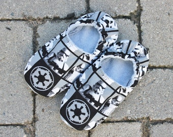 Star Wars Slippers/Non Skid Slippers with Star Wars Storm Troopers--ALL SIZES  Infant to Adult
