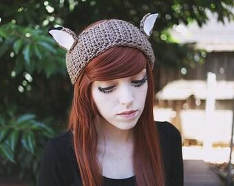 Shika - Handmade Crochet Deer Ear Headband Ear Warmer
