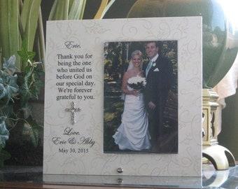 Wedding Officiant Gift Custom Wedding Frame Thank You Gift