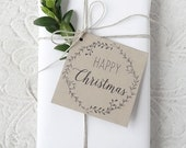 Printable Christmas Tags - Happy Christmas Gift Tags - Instant Download