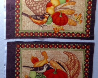 Debbie Mumm Great Harvest Cornucopia Bird Fabric Panel