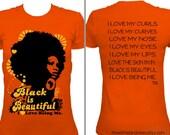 Black is Beautiful Orange