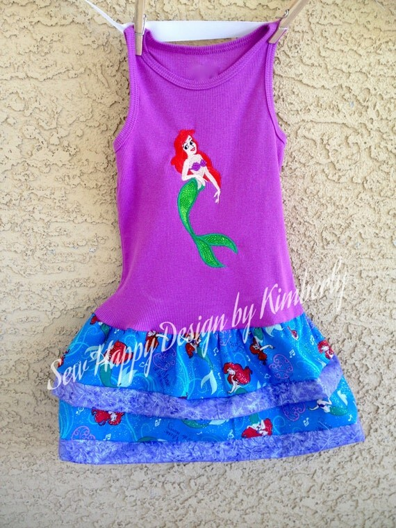 LITTLE MERMAID ARIEL Tank Top Dress various sizes available