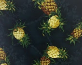 Pineapples by David Textiles, Cotton Fabric by the Yard