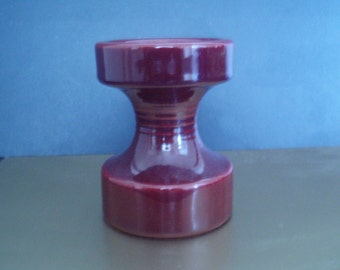 Candle Holder from Steuler - Cari Zalloni - Mid Century - 148/10 - Carmine Red
