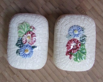 Handpainted Trinket Floral Boxes