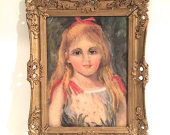 Vintage painting - Girl's portrait