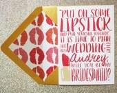 Lipstick Bridal Party Invitation