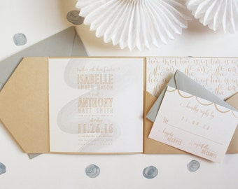 Love Is In The Air Wedding Invitation Suite