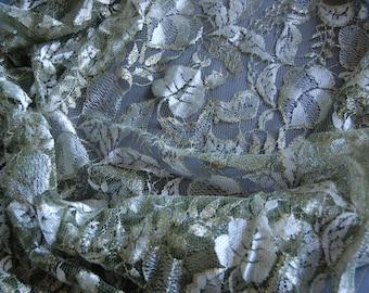 Olive Metallic Lace