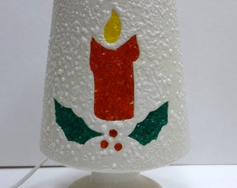 Kitschy Christmas Lamp, Ceramic 1960s