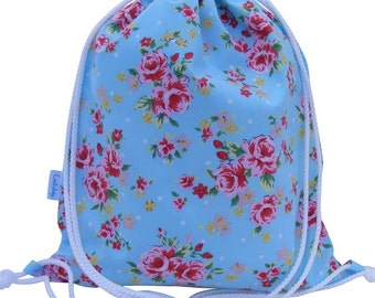 Rose Drawstring Bag, Waterproof Backpack, Swim Bag