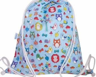 Boys, Girls Toddler Swim Bag, Waterproof Backpack - Forest Animals