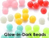 Buyer Choice - Glow in the Dark Beads Solar Rainbow Candy Mix Mixed Smooth Craft DIY Findings Supplies HALLOWEEN Charm Sale Destash Beading