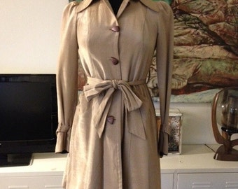 Vintage Betsey Johnson satin trench coat size 2