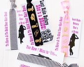Cowgirl Bachelorette Party Favor to have and to hold your hair back last ride hangover kit hair ties ponytail holder bride bridesmaid MOH