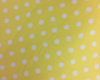 Yellow Polka Dots - Destash Sale - By the Yard