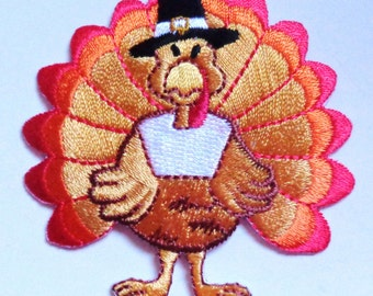 turkey iron on patch applique