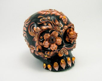 Skull Wedding rings box handmade collections