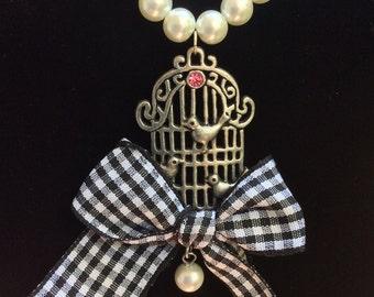 Pearl Birdcage Necklace