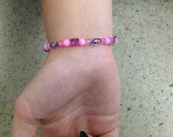 Pink splatter bracelet