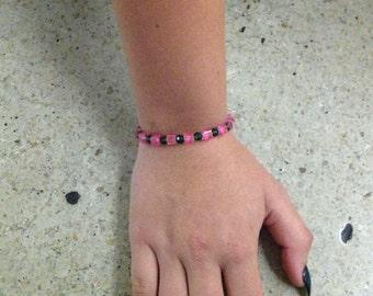Pink square bracelet