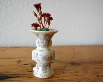 Vintage Franklin Mint Treasures of The Imperial Dynasty Miniature Vase Floral Porcelain Vase Collectors Vase from The Eclectic Interior