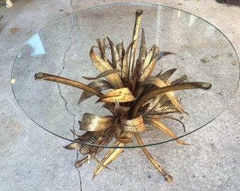 Hollywood Italian Tole Regency Metal Corn Table
