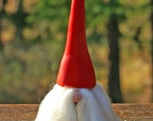 Swedish Tomte with Red Hat ~ Tomte Nisse ~ Scandinavian Christmas Gnome ~ God Jul ~ Protector of the Home ~ Handmade by Classon Creations