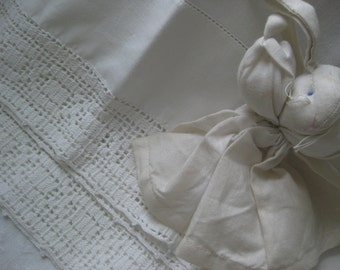 Vintage white pillow cases edged in lace ~ pamper yourself !