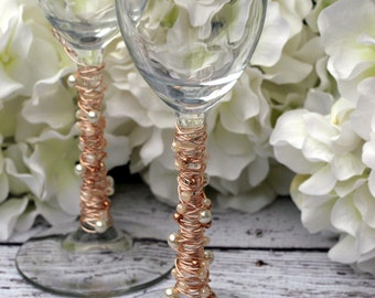 Ivory Pearl & Gold Toasting Flutes TABLE SETTING, champagne flute, bridal gift, custom, knife set, special occasion, shower, reception