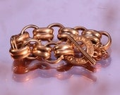 Vintage 80s GUY LAROCHE Bracelet Link Bracelet Gold Tone Links Bracelet Couture Jewelry