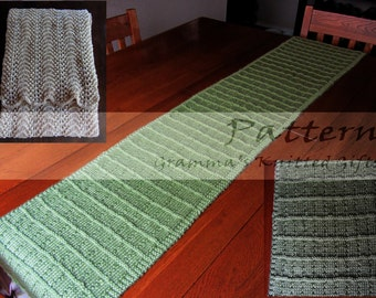 Knitted Table Runners Knitting Pattern