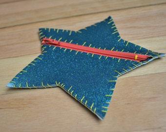 Star Glitter Vinyl Coin Purse