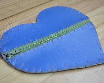 Heart Vinyl Coin Purse